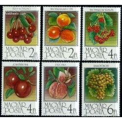 6 عدد تمبر میوه ها - مجارستان 1986