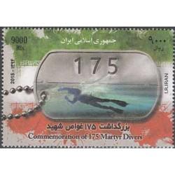 3414 - تمبر یادبود 175 غواص شهید 1394