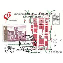 سونیرشیت اکسپو نمایشگاه تمبر 92 گرانادا - ممهور به مهر روز انتشار - اسپانیا 1991