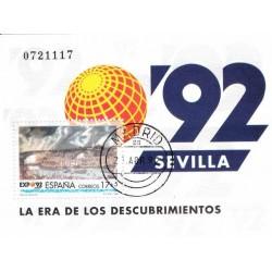 سونیرشیت اکسپو 92 سویل - ممهور به مهر روز انتشار - اسپانیا 1992