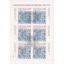 مینی شیت کاشیها - ممهور به مهر روز انتشار - پرتغال 1983
