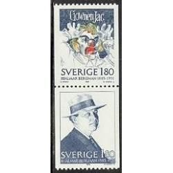 1 عدد تمبر برگمان - نویسنده و نمایشنامه نویس - سوئد 1983