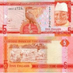 اسکناس 5 دالاسی - گامبیا 2015