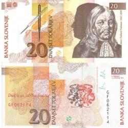 اسکناس 20 تولارجو - اسلوونی 1992