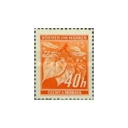 1 عدد تمبر سری پستی - بوهمیا و موراویا 1940