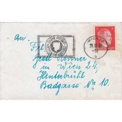 پاکت نامه با تمبر هیتلر - 1 - رایش آلمان 1943