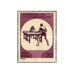 1 عدد تمبر تنیس روی میز - هندوستان 1980