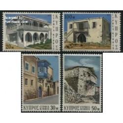 4 عدد تمبر معماری - قبرس 1973