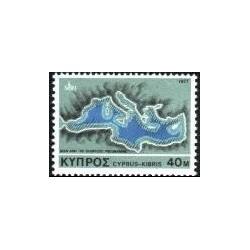 1 عدد تمبر حفاظت از محیط - قبرس 1977