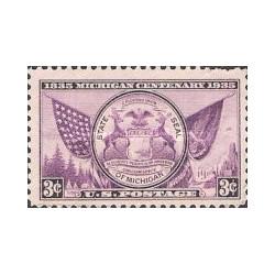 1 عدد تمبر نشان ایالت میشیگان - آمریکا 1935