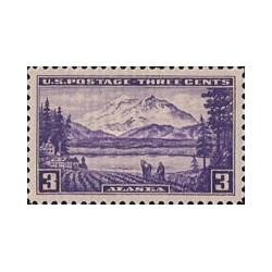 1 عدد تمبر مسائل قلمرو آلاسکا - آمریکا 1937