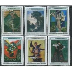 6 عدد تمبر صدمین سال موزه ملی هنرهای زیبا هاوانا - تابلو نقاشی - کوبا 2013