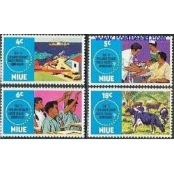 4 عدد تمبر 25مین سالگرد کمیسیون اقیانوس آرام جنوبی - نیو 1972
