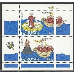سونیرشیت تمبر مشترک اروپا - Europa Cept - اکتشافات - جزائر فارو 1994