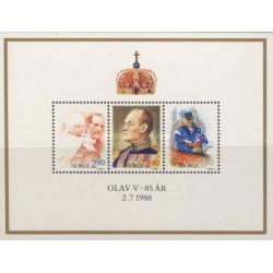 سونیرشیت هشتاد و پنجمین سالگرد تولد شاه اولاو -  نروژ 1988