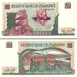 اسکناس 10 دلار زیمباوه 1997 تک