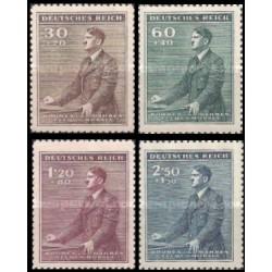 4 عدد تمبر پنجاه و سومین سالگرد تولد هیتلر - بوهیما و موراویا 1942