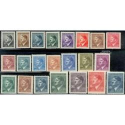 22 عدد تمبر سری پستی هیتلر - بوهیما و موراویا 1942