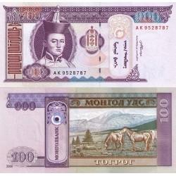 اسکناس 100 تغریک - مغولستان 2008