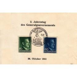 کارت مهر روز هیتلر - دولت مرکزی - ورشو 26 اکتبر 1941