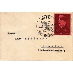 کارت مهر روز هیتلر - وین 1941