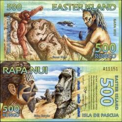 اسکناس پلیمر 500 رونگو - جزیره ایستر 2011