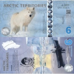 اسکناس پلیمر 6 دلار - قطب شمال 2011 نمونه