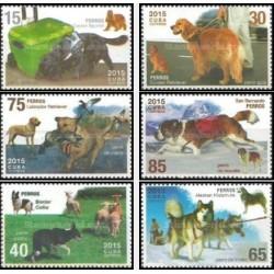 6 عدد تمبر سگها - کوبا 2015
