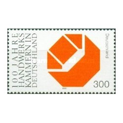 1 عدد تمبرصدمین سال انجمن صنایع دستی - جمهوری فدرال آلمان 2000