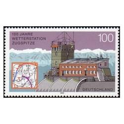 1 عدد تمبر 100مین سال ایستگاه هواشناسی زاگسپیتز - جمهوری فدرال آلمان 2000