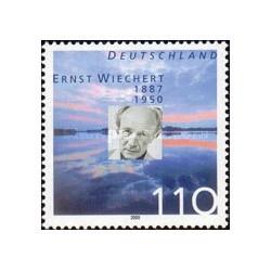 1 عدد تمبر ارنست ویچرت - معلم ، شاعر و نویسنده - جمهوری فدرال آلمان 2000