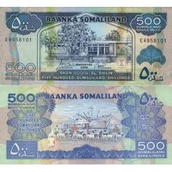 اسکناس 500 شلینگ سومالی لند 2006 تک