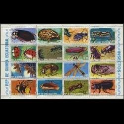 مینی شیت حشرات - گینه استوایی 1978