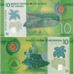 اسکناس پلیمر 10 کوردوبا - نیکاراگوئه 2014