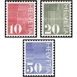 3 عدد تمبر سری پستی - سوئیس 1970