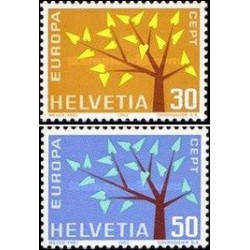 2 عدد تمبر مشترک اروپا -  Europa Cept - سوئیس 1962