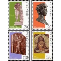 4 عدد تمبر هتر فرانسوی لاتین - سوئیس 1981
