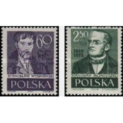 2 عدد تمبر لهستانی های مشهور - لهستان 1958