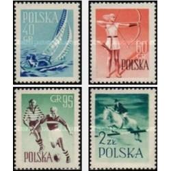 4 عدد تمبر ورزشها - لهستان 1959