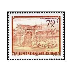 1 عدد تمبر سری پستی مناظر - وین - اتریش 1986