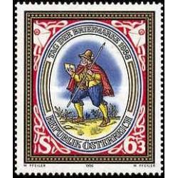 1 عدد تمبر روز تمبر - اتریش 1986
