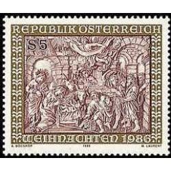 1 عدد تمبر کریستمس - اتریش 1986