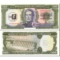 اسکناس 500 پزو - اروگوئه 1975