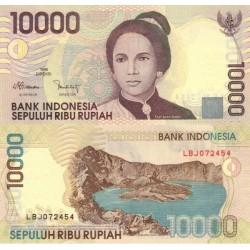 اسکناس 10000 روپیه - اندونزی 2002