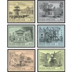 6 عدد تمبر حفاظت از بناهای تاریخی - نقاشی - واتیکان 1975