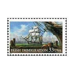 1 عدد تمبر مهاجرت ایرلندی ها - کشتی - آمریکا 1999