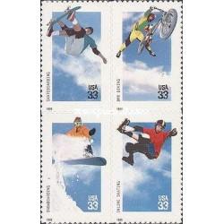 4 عدد تمبر ورزشهای مفرح - آمریکا 1999 خودچسب