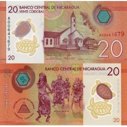 اسکناس پلیمر 20 کوردوبا - نیکاراگوئه 2014