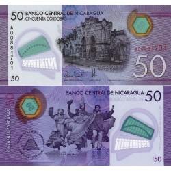 اسکناس پلیمر 50 کوردوباس - نیکاراگوئه 2014