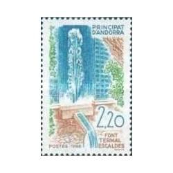 1 عدد تمبر چشمه های آب گرم - فرانسه آندورا 1988